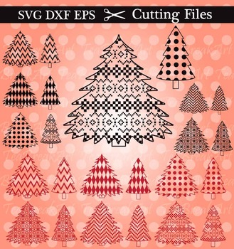 Cutting Files -Christmass Tree - Digital Clipart (018C)