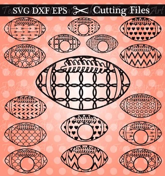 Cutting Files -Football- Digital Clipart Files (006C)