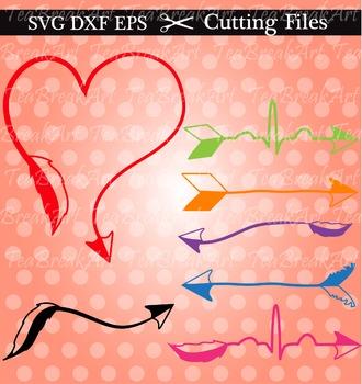 Cutting Files -Love Arrows- Digital clipart (004C)