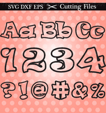 Cutting Files Outline Alphabet, Numbers & Symbols