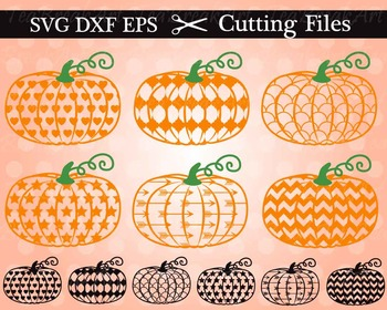 Cutting Files -Pumpkins - Digital Clipart (012C)