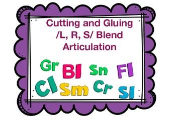 Cutting & Gluing /L,S,R/ Blends Activity