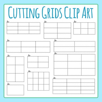 Cutting Grids - Cutting Out Multiple Answers Clip Art Set for Commercial Use