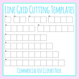 Cutting Grids Lines - For Cutting Out Answers etc. Clip Art for Commercial Use