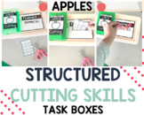 Cutting Lines Task Boxes for Preschool and Special Educati