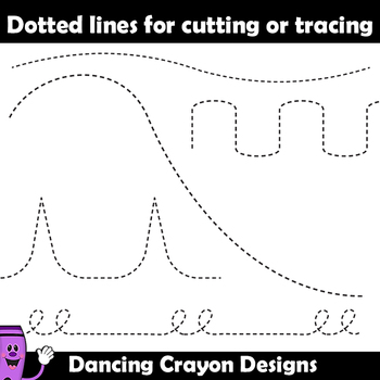 Cutting Lines / Tracing Lines - Clip Art