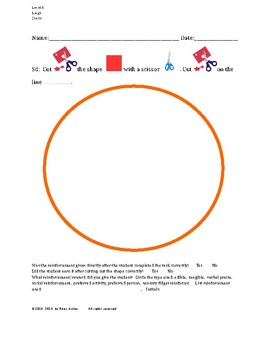 Cutting Out Shapes, Circle, Large, Level A