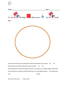 Cutting Out Shapes, Circle, Medium, Level C