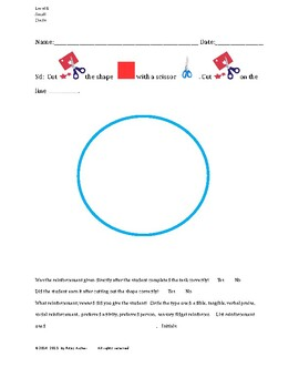 Cutting Out Shapes, Circle, Small, Level B