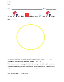 Cutting Out Shapes, Circle, Small, Level C