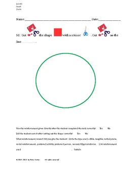 Cutting Out Shapes, Circle, Small, Level D