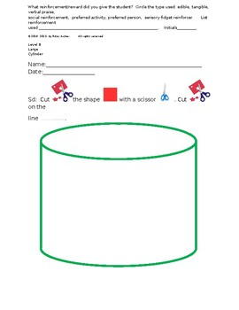 Cutting Out Shapes, Cylinder, Large, level B