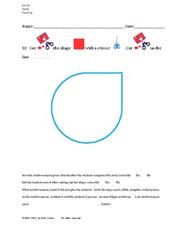 Cutting Out Shapes, Teardrop, Small, Level C