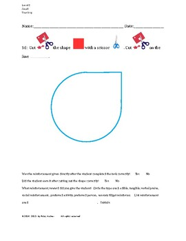 Cutting Out Shapes, Teardrop, Small, Level D