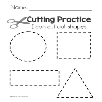 Cutting Practice - Lines and Shapes