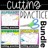 Letter, Number and Shape Cutting Practice Bundle