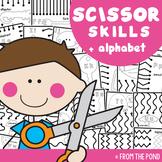 Scissor Skills Cutting Practice with Alphabet Tracing