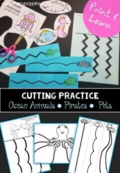 Cutting Practice Bundle - 180 Themed Pages!