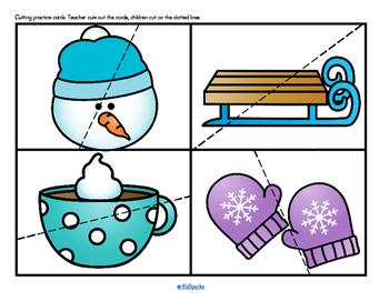 Winter Cutting Practice Preschool