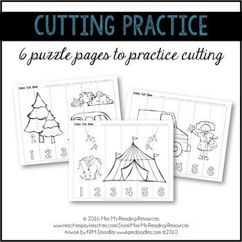 Cutting Practice Puzzles