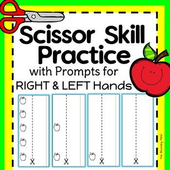Cutting Practice Scissor Skills Worksheets