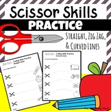 Cutting Practice Scissor Skills Worksheets {Back To School September Theme}
