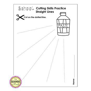 Cutting Practice Scissor Skills Worksheets Back To School September