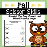 Cutting Practice Scissor Skills Worksheets {Fall}