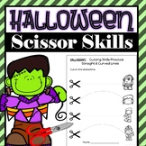 Cutting Practice Scissor Skills Worksheets {Halloween Theme}