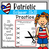 Cutting Practice Scissor Skills Worksheets {Patriotic}