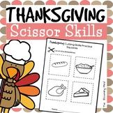 Cutting Practice Scissor Skills Worksheets {Thanksgiving}
