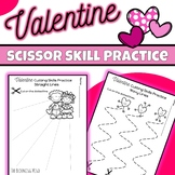 Cutting Practice Scissor Skills Worksheets {Valentine's Day}