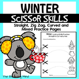 Cutting Practice Scissor Skills Worksheets {Winter}