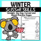Cutting Practice Scissor Skills Worksheets {Winter}