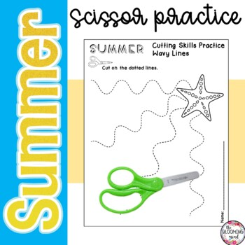 Cutting Practice Scissor Skills {Summer Theme}