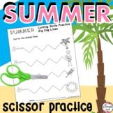 Cutting Practice Scissor Skills {Summer Theme}