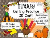 Cutting Practice Thanksgiving Turkey Craft