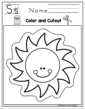 Scissor Practice Using Pictures Easy