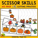 Cutting Practice with Scissors Preschool - Pumpkin Patch Themed