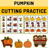 Pumpkin Cutting Practice with Scissors Preschool