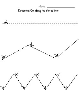 Cutting Practice- Fine Motor Skills