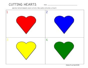 Pre-K Cutting Shapes Worksheets