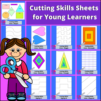 Cutting Skills Pages for Young Learners
