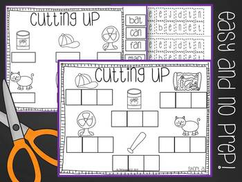 Cutting Up! {A CVC Cut and Paste No Prep Pack}