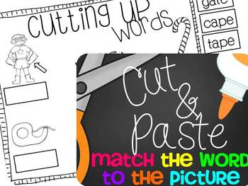 Cutting Up! {A Silent E Cut and Paste No Prep Pack}