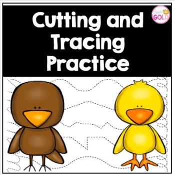 Cutting and Tracing Lines Practice FREEBIE