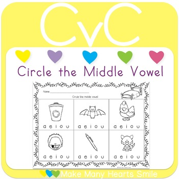 CvC: Circle the Middle Vowel