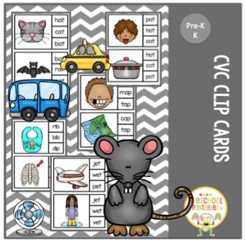 CvC Clip Cards