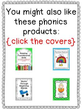 First Grade Phonics: CvC Flashcards