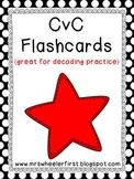 First Grade Phonics: CvC Flashcards